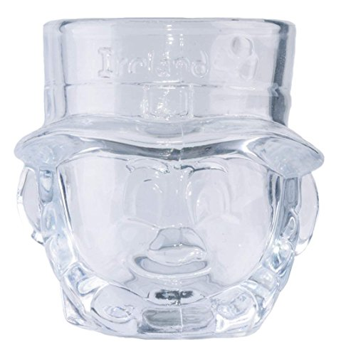 - Shot Glass In A Shape Of A Leprechaun With Ireland Text And Shamrock Design