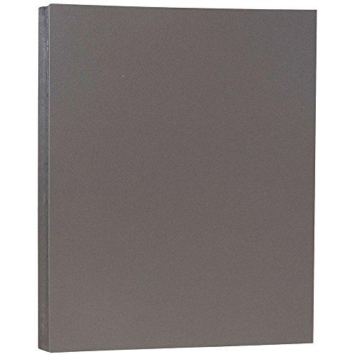 (JAM PAPER Matte 80lb Cardstock - 8.5 x 11 Letter Coverstock - Dark Gray - 50)