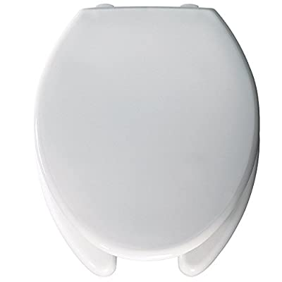 "Bemis Medic-Aid 2"" Lift Raised Plastic Toilet Seat and Cover, White, 2L2150T 000"