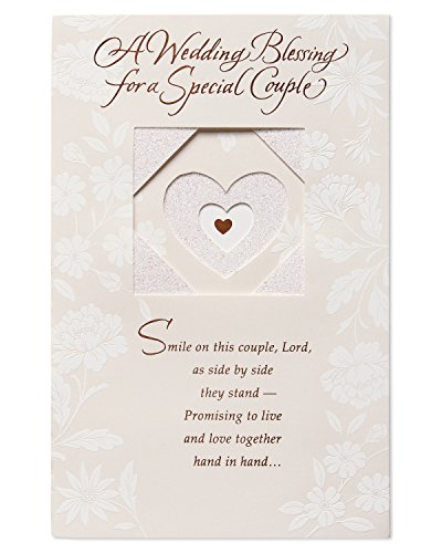 - American Greetings Religious Special Couple Wedding Card with Glitter