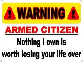 Warning Nothing Losing Sticker Yellow