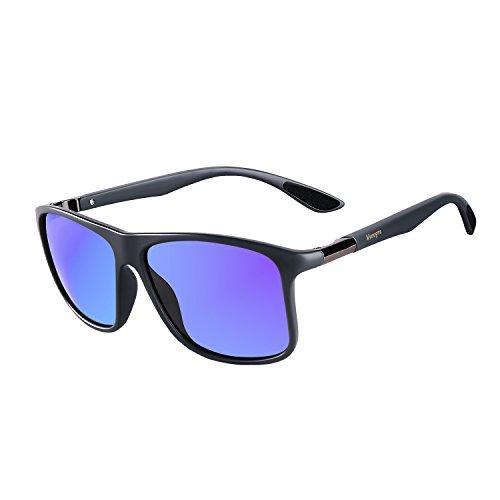 60fa543c16 Vseegrs Vintage Oversized Square Polarized Wayfarer Sunglasses for Men  Aviator Shades with UV Protection (matte