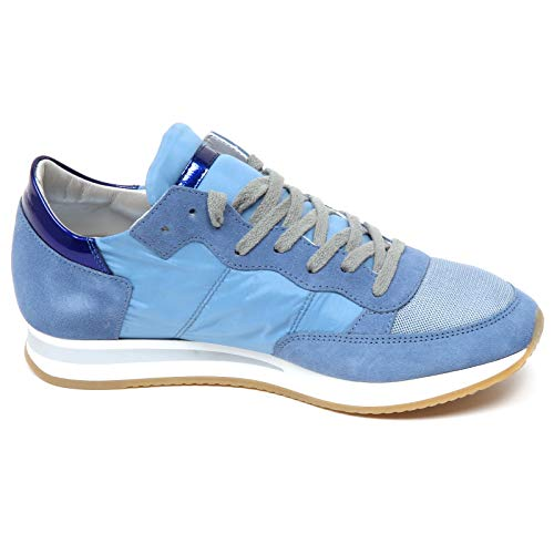 Donna Scarpe E8934 Shoe Tropez Woman Model Philippe Blu Sneaker Avio t05xZ6vw