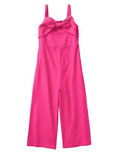 (Crazy 8 Girls' Little Sleeveless Casual Woven Romper, Berry Pink, 16.0)
