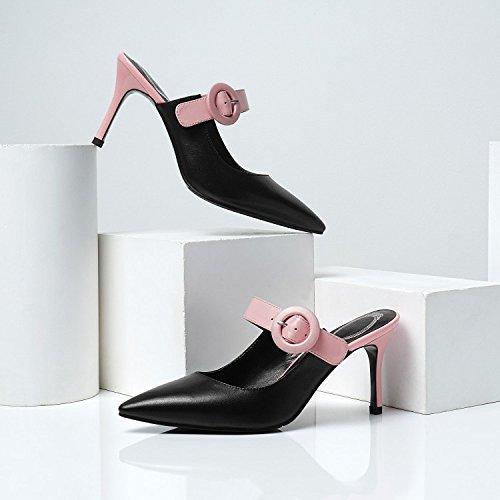 76fde24d69f Nuevas Sandalias De Tacón Alto Para Mujer De Verano Hebilla Slingback  Zapatillas De Punta Estrecha Zapatos