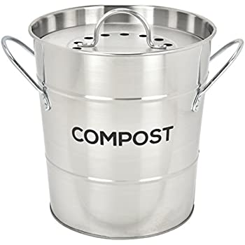 Amazon.com: Kitchen Craft – Compost cubeta de basura con ...