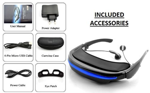 7b71a710c5c4 BW Virtual Private Theater Video Glasses with 52 Inch  Amazon.co.uk   Electronics