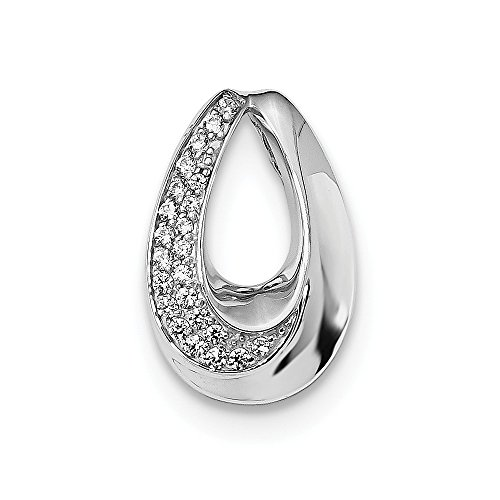 925 Sterling Silver Cubic Zirconia Cz Chain Slide Pendant Charm Necklace Omega Fine Jewelry Gifts For Women For Her