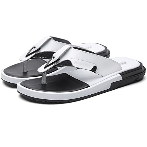White And UK7 Color HUO EU40 Black Outdoor 2 slip Slippers CN41 EVA Beach Simple Men Sandals White Size Non Summer 1 Shoes Fashion Splice Sole White TaxpZB