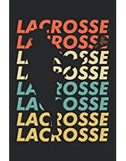 """Lacrosse: Notebook or Journal 6 x 9"""" 110 Pages Wide Lined Interior Flexible Paperback Matte Finish Writing Composition Note Keeping List Keeping Scheduling Studies Research Workbook"""