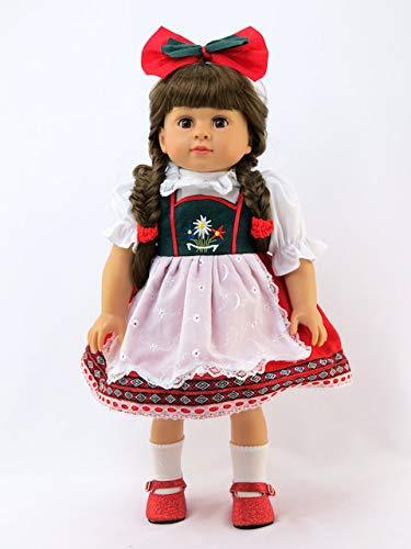 (American Fashion World Traditional German or Swiss Dress | 18 Inch Doll)