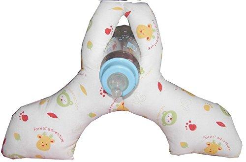 Baby Bottle Holder for Hands Free Bottle Feeding Deer & Raccoon Print
