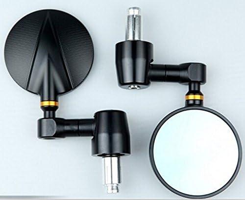 One pair of Universal CNC Billet Bar End Mirrors for DUCATI,HONDA,SUZUKI,YAMAHA TRIUMPH with Standard 13-22mm hollow handble bar