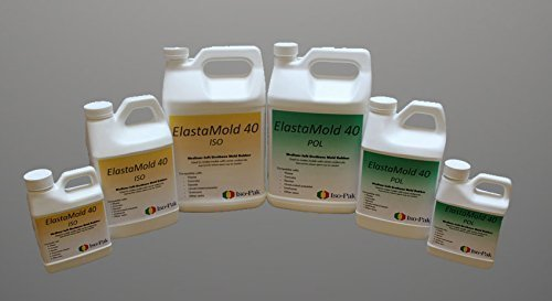 Elast-A-Mold 40- Gallon Kit, Medium-Soft Urethane Mold Rubber, 2 Gallons total