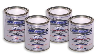 4 Quart Special Automotive Rust Bullet - Automotive Rust Protection Paint Rust Inhibitor Coating - Metallic Grey