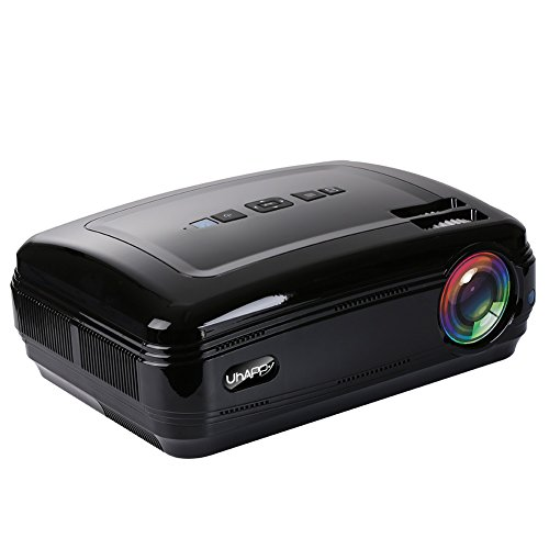 Edal-UHAPPY-U58-LED-Video-Projector-3200-Lumens-1280768-Resolution-Home-Projector-LED-HD-Mini-Projector-for-Home-Cinema-Theater-Support-1080P-by-USB-HDMI-VGA-SD-AV-Black-Black