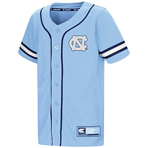 Colosseum Youth North Carolina Tarheels UNC Baseball Jersey (YTH (6-7)) Tar Heels Unc Baseball