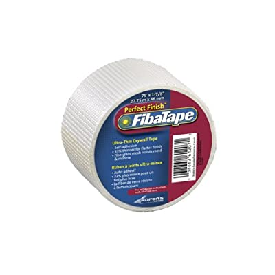 FibaTape FDW8189-U Perfect Finish 1-7/8-Inch by 75-Feet Ultra Thin Drywall Tape, White
