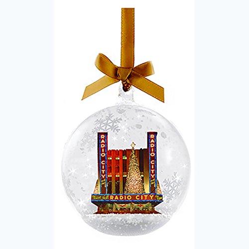 Kurt Adler Radio City Music Hall Glass Snow Globe Christmas Ornament -