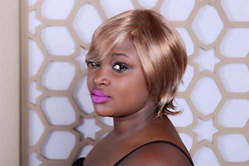 Perruque Sexy Femmes Court Naturel Cheveux Droites Blond Blanc Mix