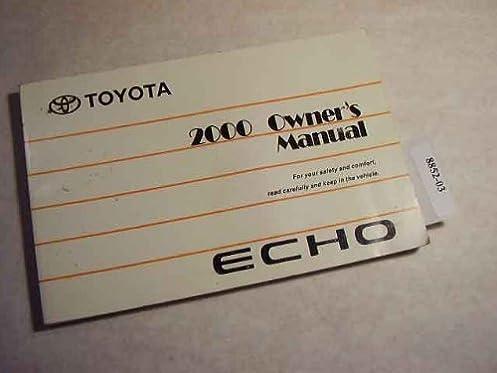 2000 toyota echo owners manual toyota amazon com books rh amazon com 2000 toyota echo owners manual pdf Toyota Echo Parts Diagram