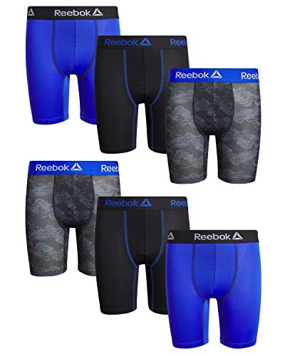Reebok Boys Performance Quick Dry Compression Long Boxer Brief (Pack of 6)