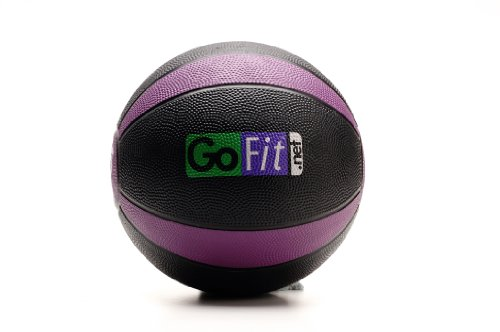 GoFit Medicine Ball, Training Manual Set Textured Medicine Ball and Exercise Manual Available in Weight Increments of 4, 6, 8, 10, 12, or 15 Pounds
