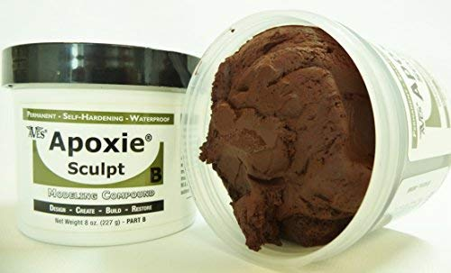 Apoxie Sculpt 1 lb. Brown, 2 Part Modeling Compound (A & B) from Aves