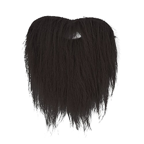 SpringPear Black Fake Mustache Fake Beard for Adult Teens Children Halloween Carnival Decoration Party Favours for $<!--$10.99-->