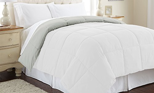 Amrapur Overseas | Goose Down Alternative Microfiber Quilted Reversible Comforter/Duvet Insert - Ultra Soft...