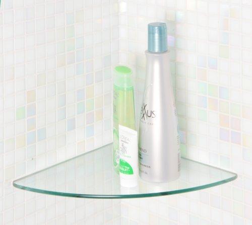 Curved Corner Glass Shelf (Floating Glass Shelves Bluegate Inc Bathroom Tempered Glass Curved Corner Shelf 10