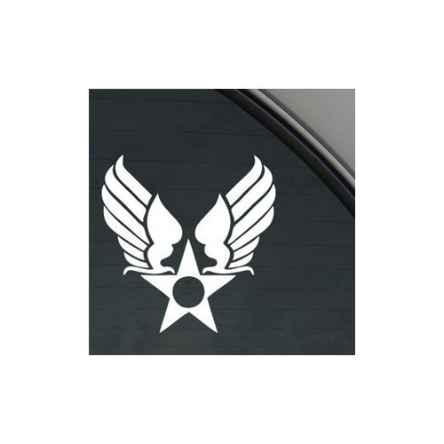 Cheap  Us Army Air Corps Hap Arnold Wings White Color Wall Adhesive Vinyl..