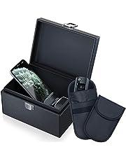 Caslord Keyless Go Protection autosleutelbox en Faraday-tas, autosleutel RFID-afschermdoos, 2 signaalafschermingstas - zwart
