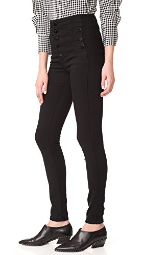 J Brand Jeans Women's Natasha Sky High Rise Skinny, Seriously Black, 27 by J Brand Jeans (Image #3)