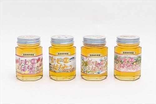 【国産純粋ハチミツ・養蜂園直送】れんげ蜂蜜 みかん蜂蜜 百花蜂蜜 山ざくら蜂蜜 各180g