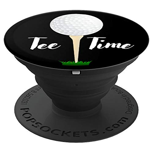 Tee Time Golf Ball Gift For Golfers - PopSockets Grip and Stand for Phones and Tablets