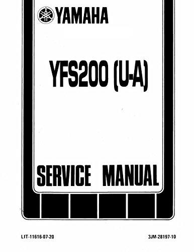 amazon com yamaha blaster 200 yfs 200 1987 2001 service manual rh amazon com yamaha blaster 200 service manual pdf yamaha wave blaster service manual