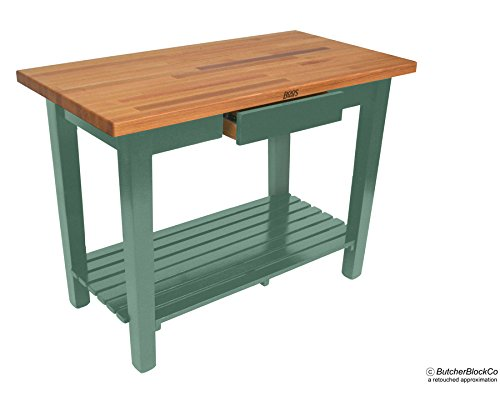 John Boos OC Oak Country Table - Blended Butcher Block Top, 36''W x 25''D - No Shelf, French Roast Base by John Boos (Image #3)