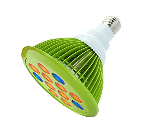 Mystery 12W LED Plant Grow Light Bulb, High Efficient Hydroponic Plant E27/B22 Growing Lamp for Indoor Garden Greenhouse in Best 3 Bands Growing Combination (Green)