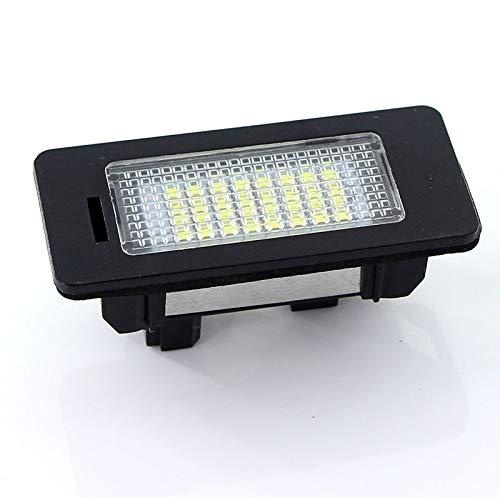 MuChangZi 2pcs 24 LED Lampes pour Plaque Dimmatriculation pour Voiture pour A//UDI A1 A1 B8 S4 A5 S5 A6 C7 A7 Q5 TT TTRS