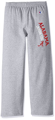 Crimson Youth Fan Gear - NCAA Alabama Crimson Tide Youth Boys Eco Powerblend Pant, Medium, Heather Gray