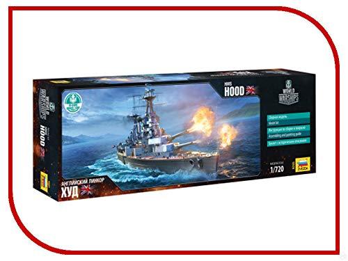 - ZVEZDA 9205 Battlecruiser The Royal Navy HMS Hood Plastic Model Kit Scale 1/720 203 Details Lenght 14