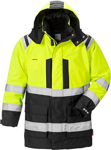 Breathable Parka (Fristads Kansas 119628 High Viz Airtech Winter Parka Hi-Vis Yellow/Black 2XL)