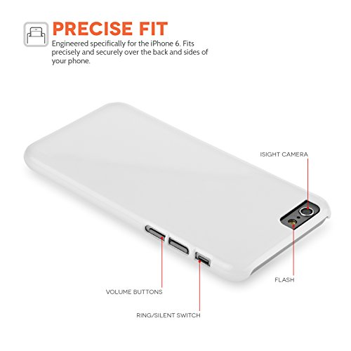 Caseflex iPhone 6 / 6S Hülle Braun / Rot / Weiß Strickmuster Schneeflocke Hart Schutzhülle