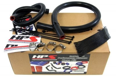 Jeep 91-01 Cherokee XJ 4.0L Silicone Heater Hose Kit Black