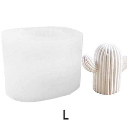 Lembeauty - Molde de Silicona 3D con Forma de Cactus para Hacer Yeso y Hacer jabón