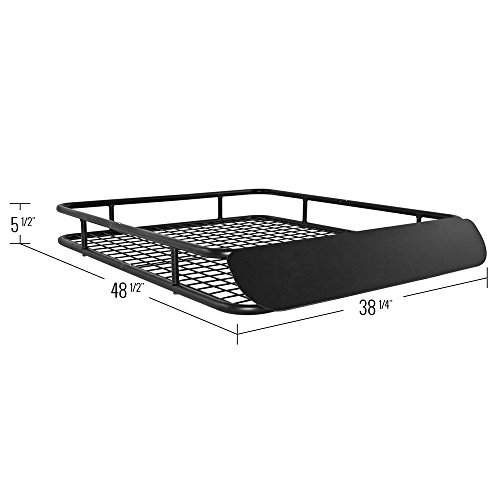 Apex Steel Roof Cargo Basket with Wind Fairing by Apex (Image #3)