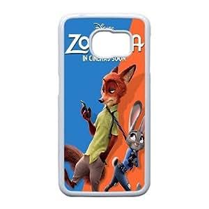 Disney Zootopia N5B6Bj Funda Samsung Galaxy S6 caja del teléfono celular Funda Caso de teléfono blanco W4P4CO plástico Funda Activo