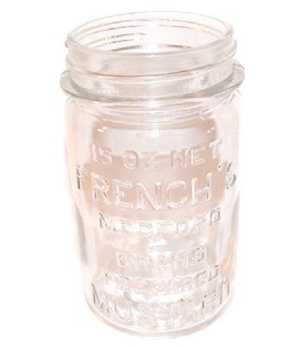 Old 15oz. French's Medford Brand Glass Mustard - Brands French Glasses
