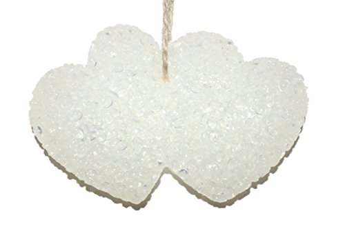 ChicWick Car Candle Leather and Lace Double Hearts Shape Car Freshener Fragrance